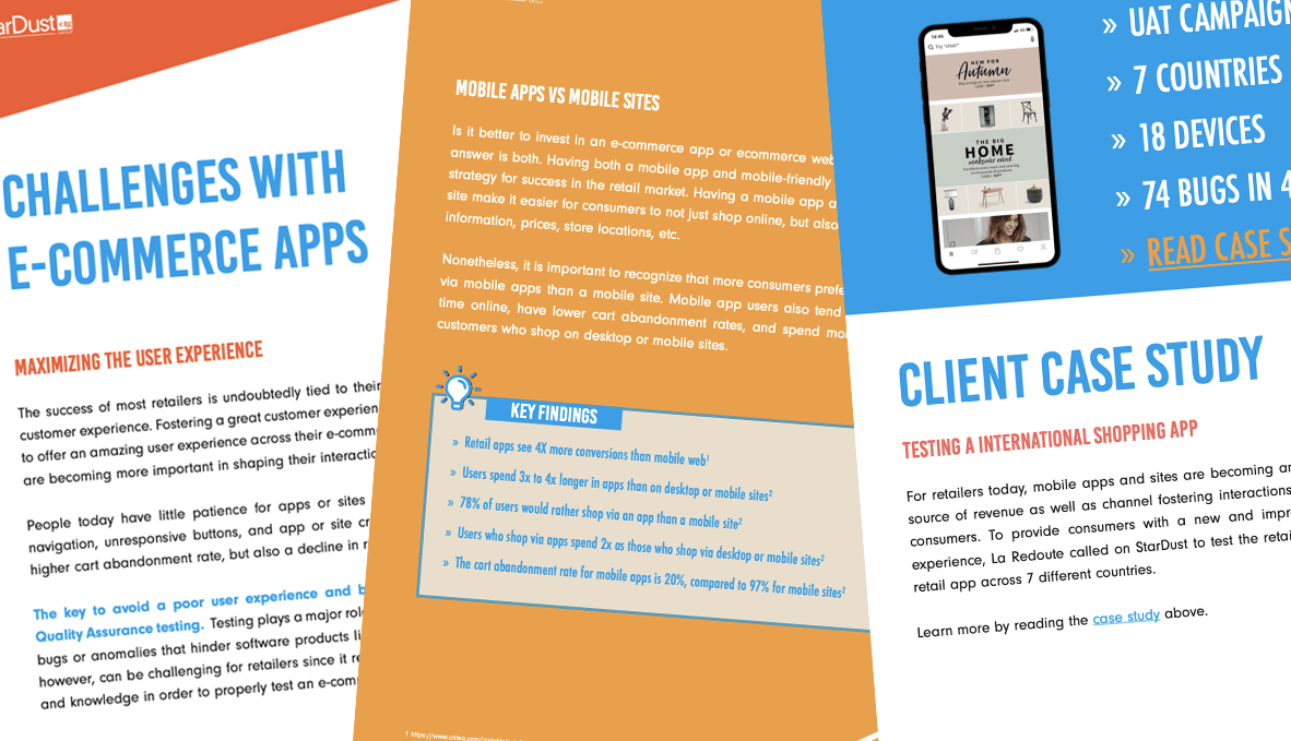 white paper testing e-commerce apps